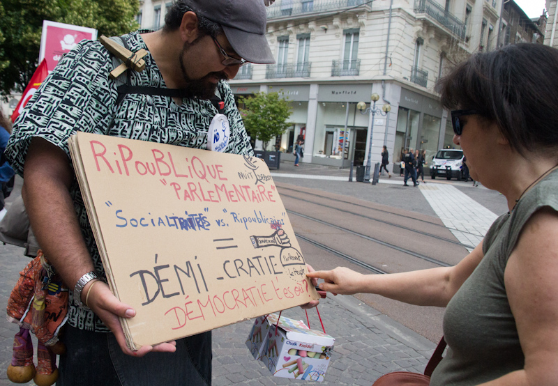 Manifestation contre la loi travail, 9 juin 2016. © Yuliya Ruzhechka - Place Gre'Net