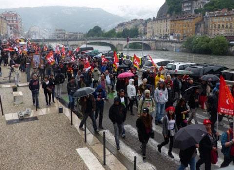 manifestation loi travail 2 juin isère syndicats