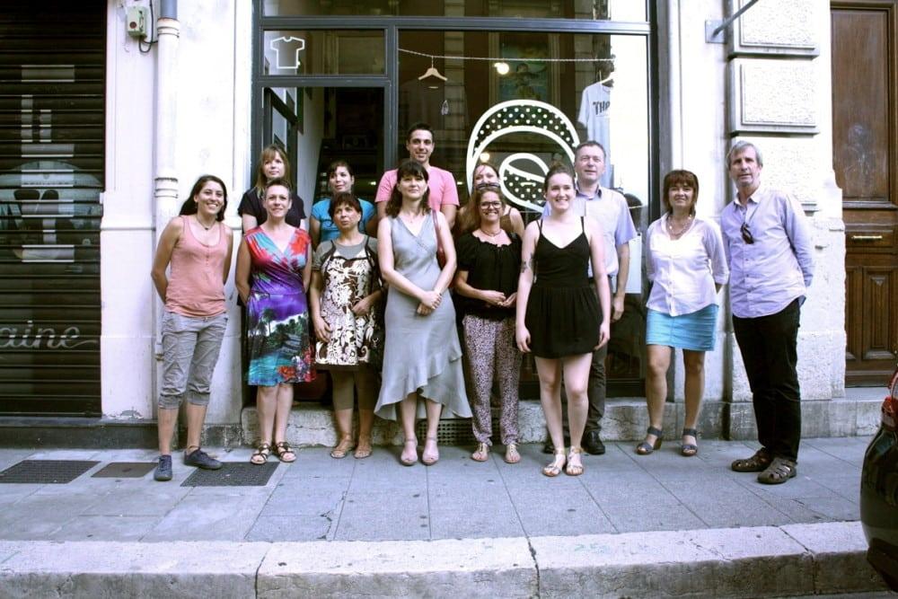 Entrepreneures et responsables de Gaia, réunis pour présenter le concours Initiative «♀» Féminin. © Florent Mathieu - Place Gre'net