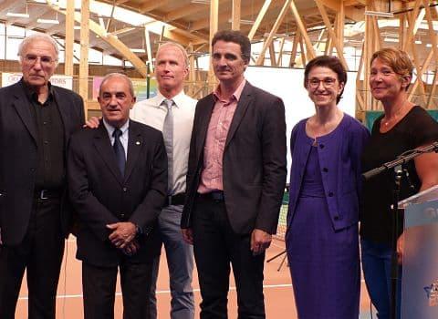 De gauche à droite : Christian Gaudin, Jean Gachassin, Stephan Post, Eric Piolle, Danielle Dufourg et Carole Montillet. © Alexandra Moullec