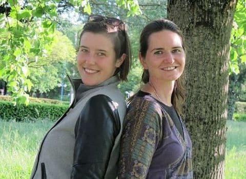 Bertile Lecomte et Céline Perron. © DR