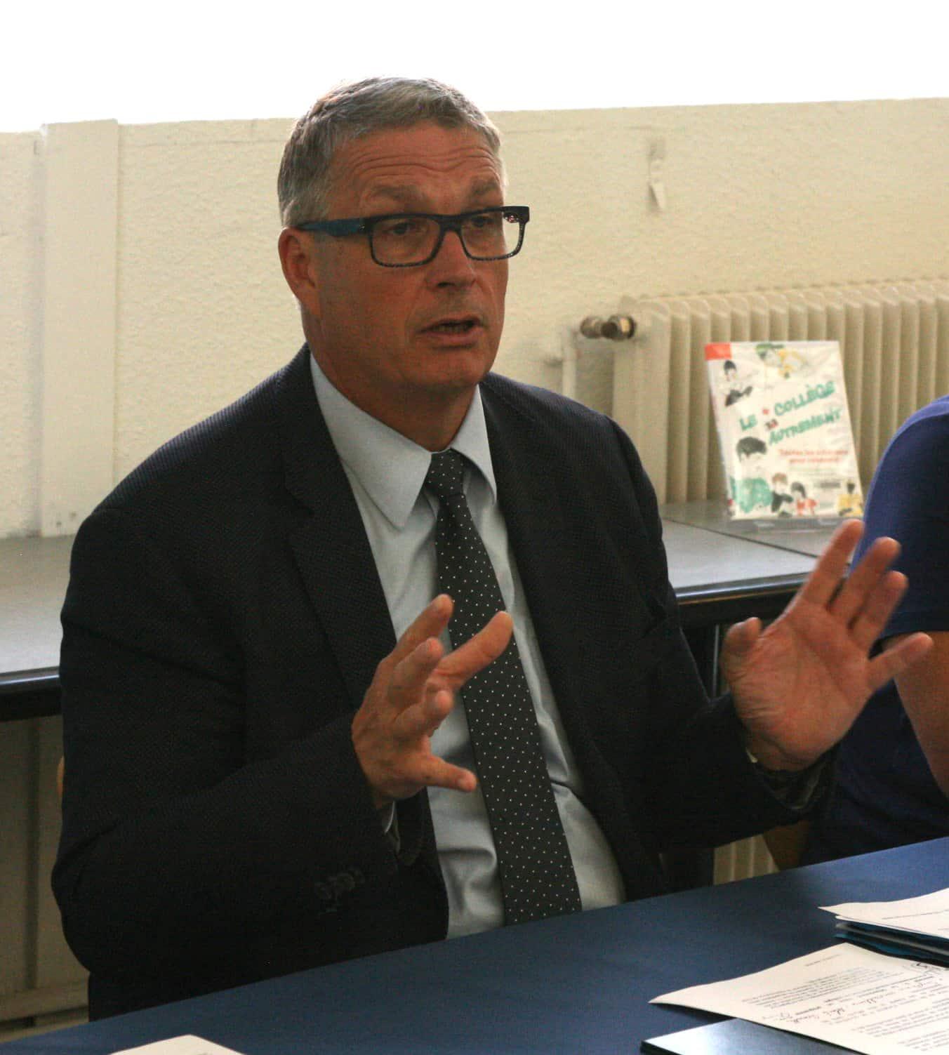 Jean-Pierre Barbier, président du Conseil Départemental. © Florent Mathieu - Place Gre'net