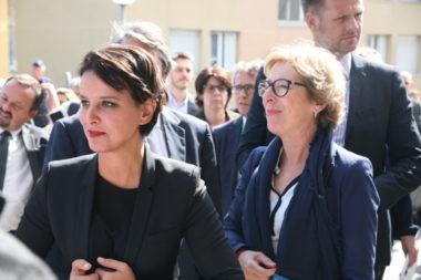 Najat Vallaud-Belkacem inaugure la résidence du Crous Geneviève Jourdain © Florent Mathieu - Place Gre'net