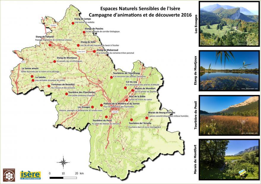 Le site compte des documents précieux. Ici, une carte des espaces naturels sensibles du département. DR
