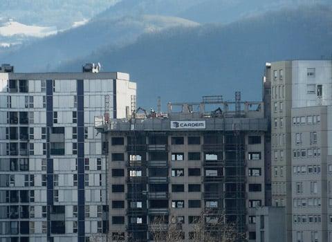 Réhabilitation urbaine de la Villeneuve à Grenoble par l'Anru. © Christiane Guiraudie