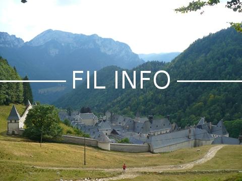 """Parmi les sites historiques régionaux choisis par les internautes dans le cadre de l'opération """"patrimoine"""", figure le Monastère de la Grande Chartreuse."""