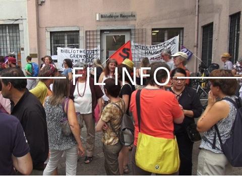 A l'occasion de la fête des Tuiles, les bibliothécaires de Grenoble en lutte comptent une fois de plus dénoncer le plan d'austérité de la Ville.