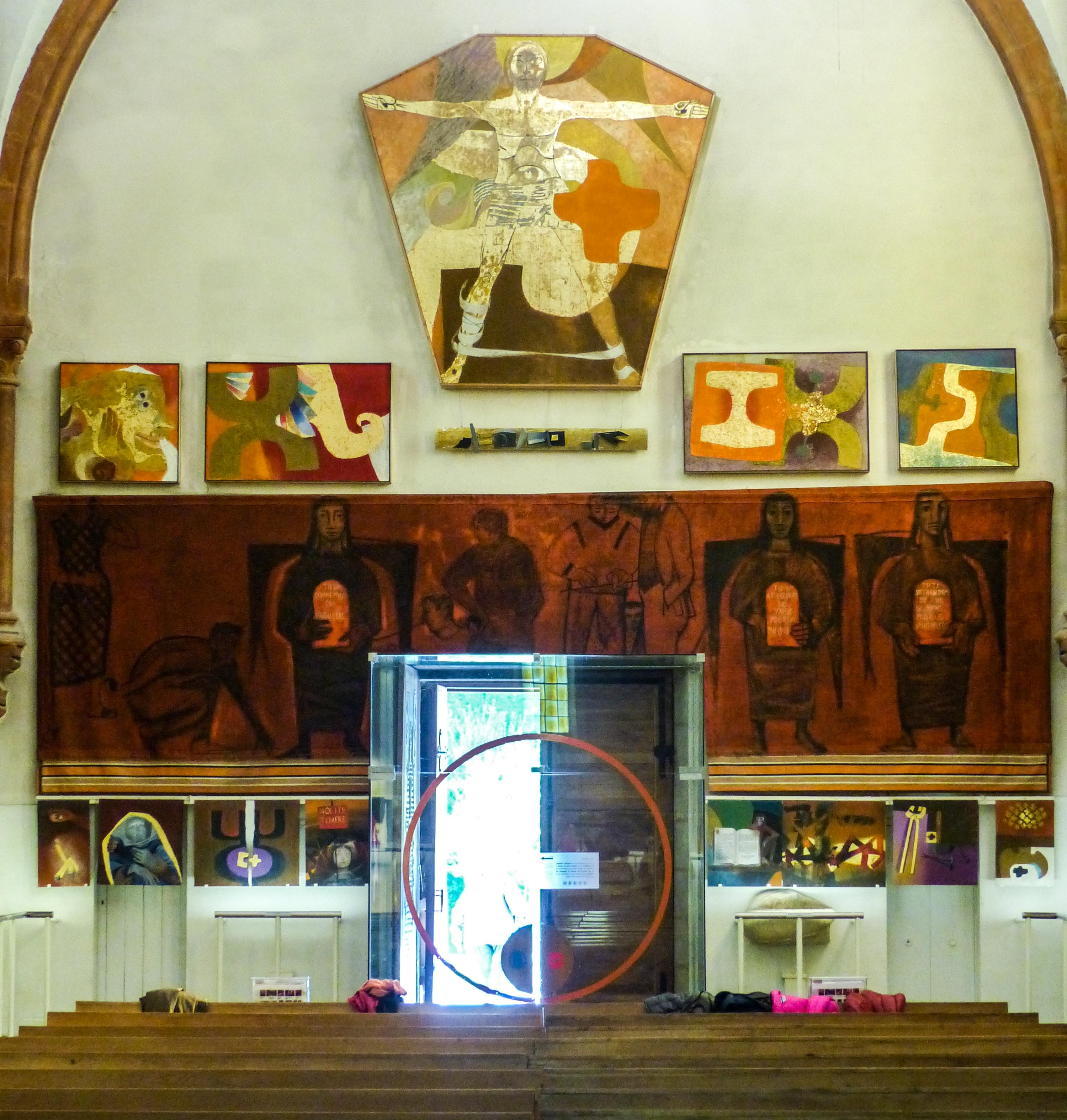 Le peintre et artiste Arcabas, qui résidait à Saint-Pierre de Chartreuse depuis plusieurs décennies, est décédé ce jeudi 23 août à l'âge de 91 ans.Église Saint-Hugues-de-Chartreuse. © Adèle Duminy - Place Gre'net