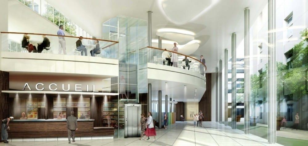 Un hall Michallon tel qu'envisagé, plus accueillant et mieux accessible. © Chuga