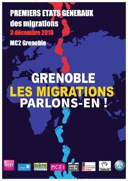 Affiche des 1er États généraux des migrations. © Migrants en Isère