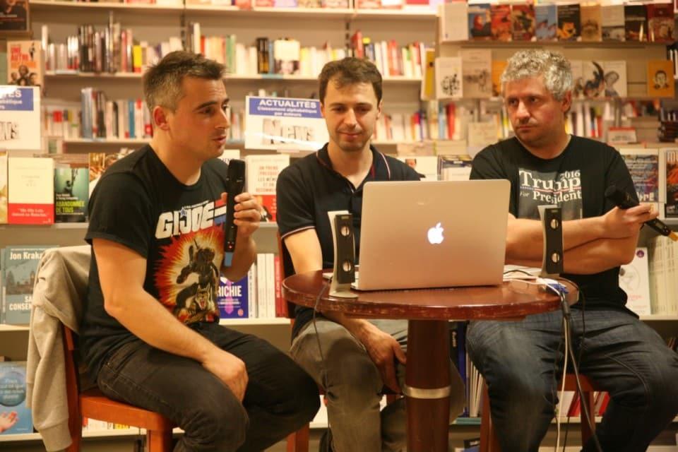 Régis Brochier, Régis Autran et François Cau de Nanarland présentaient leur ouvrage samedi 5 novembre à la libraitrie Decitre. © Florent Mathieu - Place Gre'net