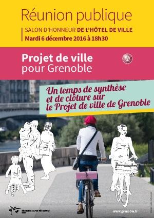 Réunion publique Projet de Ville pour Grenoble mardi 6 décembre 2016 à 18h30 salon d\