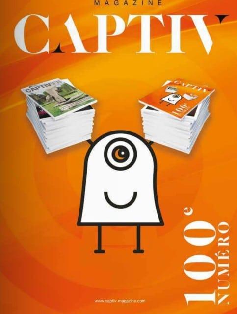 Le numéro 100 de Captiv, sorti en juin dernier. DR