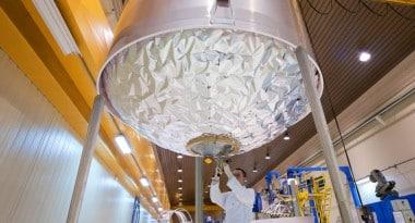 Le réservoir d'oxygène liquide du lanceur Ariane, fabriqué par Air liquide. © Air liquide