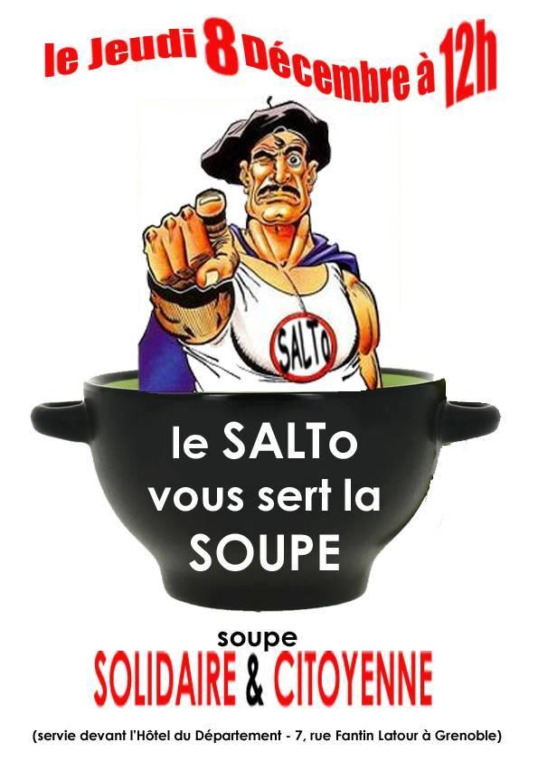 Un Superdupont aux couleurs du Salto, en hommage à Gotlib récemment disparu ?