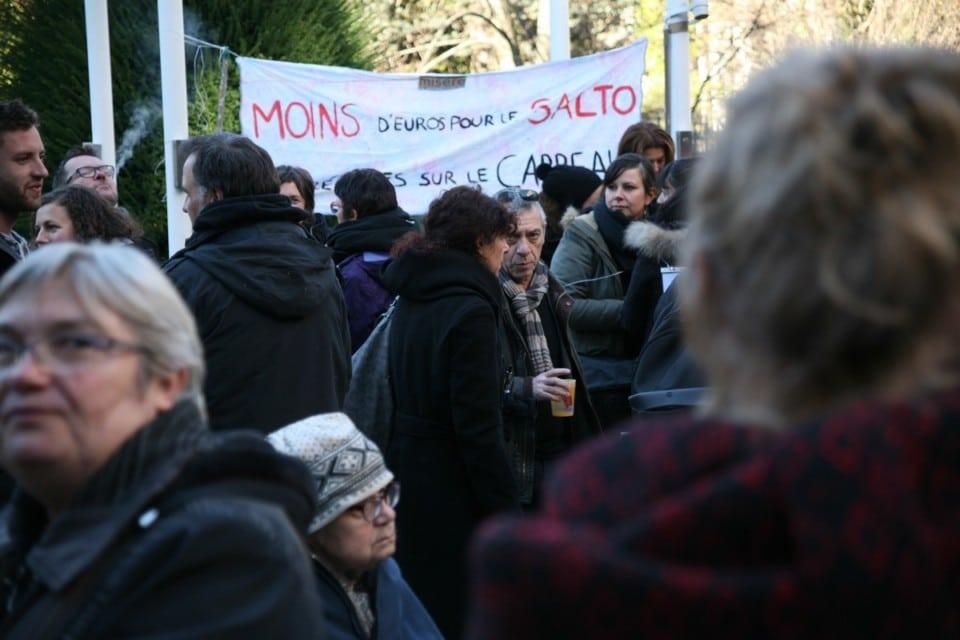 Manifestation du Salto devant le Conseil Départemental © Florent Mathieu - Place Gre'net