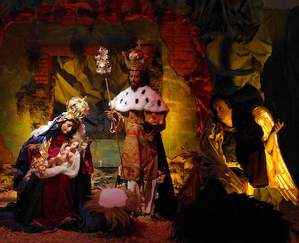 Crèche de Noël. CC Wikipedia