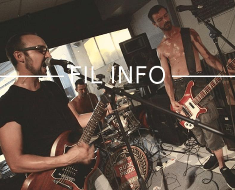 Groupe de musique punk rock grenoblois Hanx. DR