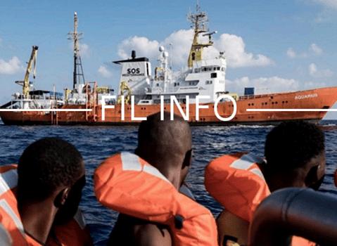 Fil info SOS mediterranée. © Marco Panzetti - SOS méditerranée