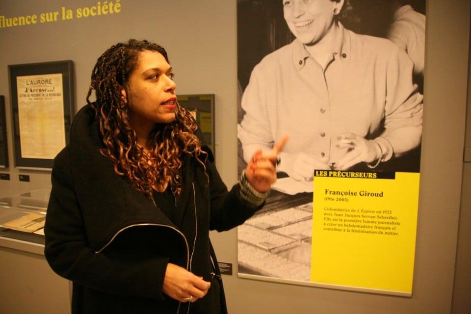 Nathalie Ngeumani, commissaire adjointe de l'exposition © Florent Mathieu - Place Gre'net