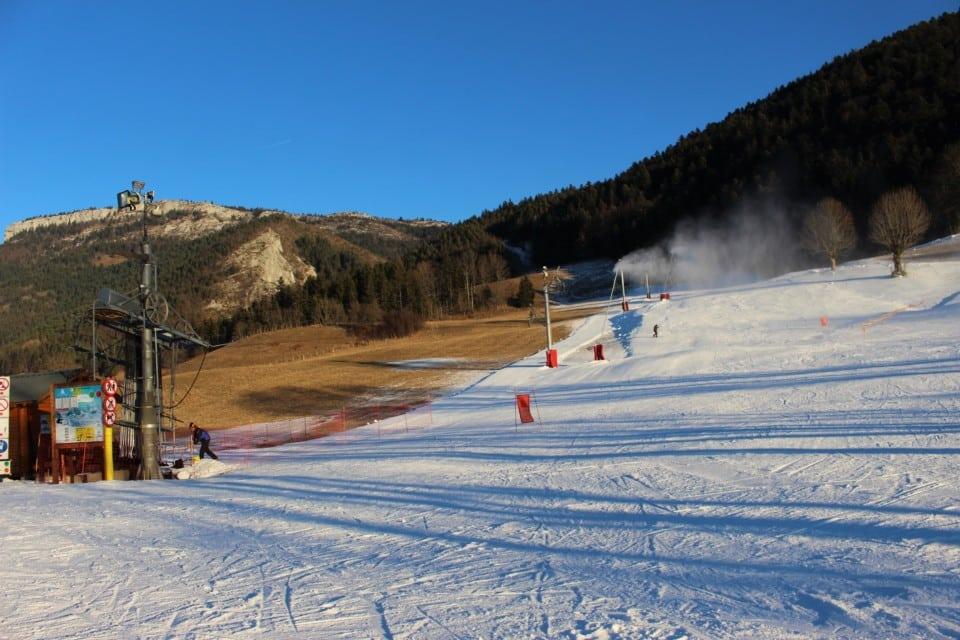 Espace de ski débutants de Lans en Vercors. © Corentin Libert - Place Gre'net