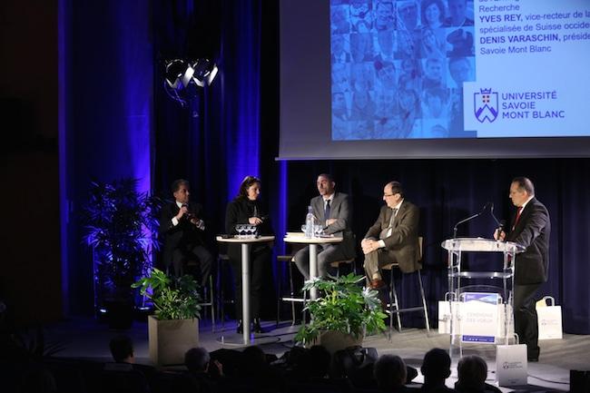 La coopération université-entreprises-terriroire au coeur des différents discours de cette cérémonie des voeux. @ Yannick Perrin