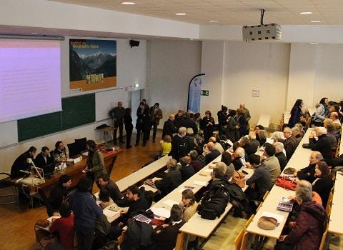 Conférence en hommage aux travaux de Matthieu Giroud, le 20 janvier 2017 à l'Institut de Géographie Alpine de Grenoble. © Corentin Libert