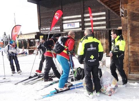 Campagne d'information 2016 des saisonniers à Megève.@ CGT Haute-Savoie
