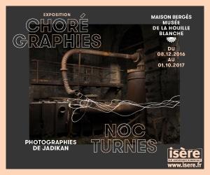 Exposition Chorégraphies nocturnes - photographies de Jadikan à la Maison Bergès musée de la Houille blanche jusquau 1er octobre 2017.