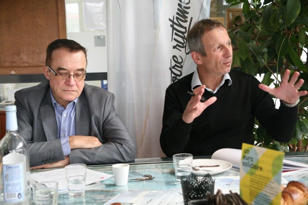 Denis Séjourné, président de Coeur de Chartreuse, et Jean-Louis Martinot, directeur du domaine skiable. © Florent Mathieu - Place Gre'net