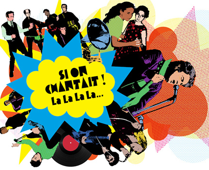 """La nouvelle exposition sur la chanson française """"Si on chantait! La La La La…"""" au Musée dauphinois se poursuit jusqu'au 8 janvier 2018."""