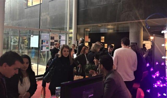 Salon de la création d'entreprise à l'IAE de Grenoble, le 9 février. Photographie © IAE de Grenoble