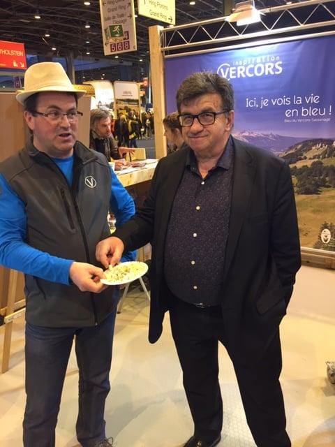 Robert Duranton, vice-président du Conseil départemental en charge de l'agriculture, au Salon de l'agriculture de Paris. © CD38