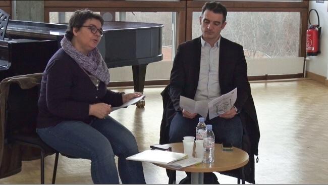 L'adjointe à la Culture de la Ville de Grenoble Corinne Bernard et son maire Éric Piolle © Joël Kermabon - Place gre'net