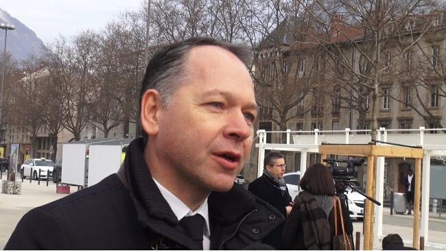Patrick Ropert, le directeur des gares et connexions de la SNCF. © Joël Kermabon - Place Gre'net