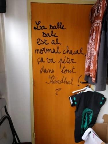 Exemple de tags dans la « salle sale ». DR