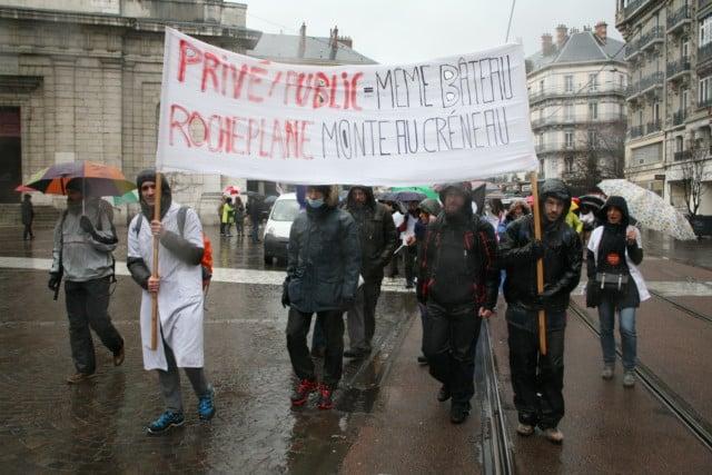 Manifestation pour le service public - 7 mars 2017 © Florent Mathieu - Place Gre'net