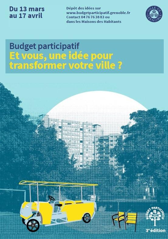 Affiche du Budget participatif 2017 de Grenoble. DR