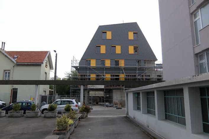 Au Clair du quartier en chantier, Quartier des Eaux Claires de Grenoble. DR