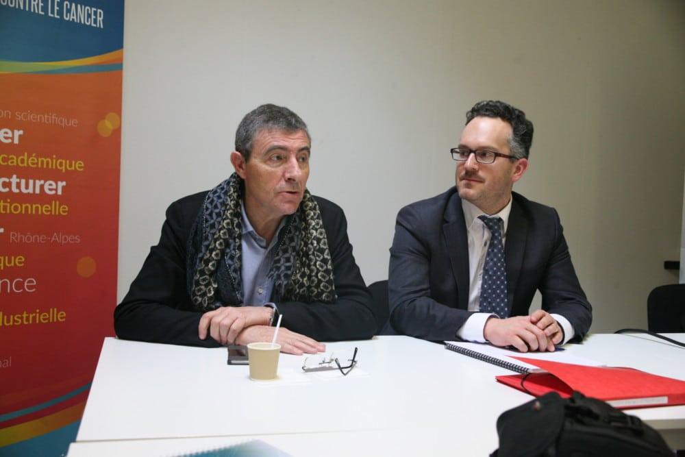 Jean-Pierre Zarski, président de la CME, et Olivier Exertier, directeur général du Clara. © Florent Mathieu - Place Gre'net