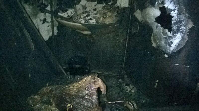 Chambre d'étudiant de Condillac sinistrée. Photographie fournie par un résident.