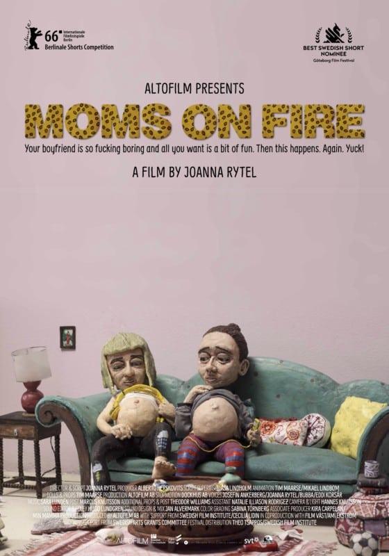 Moms On Fire, un court-métrage suédois trash. DR