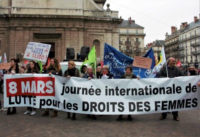 Manifestation du 8 mars 2017 à Grenoble dans le cadre de la Journée internationale des femmes © Anaïs Mariotti - Place Gre'net