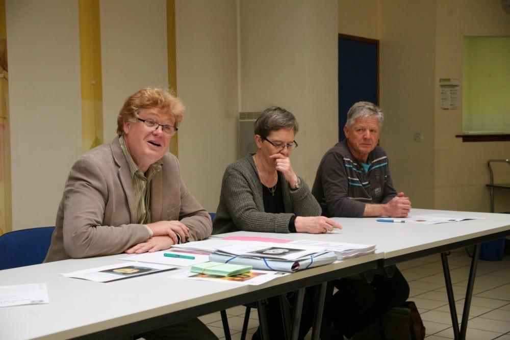Joël Geiser, Sylviane Spindler et Jean-Claude Salomon, du comité d'organisation © Florent Mathieu - Place Gre'net