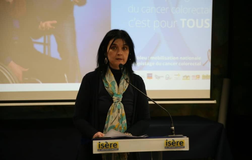 Magalie Guillot lors d'une présentation de l'opération Mars Bleu © Florent Mathieu - Place Gre'net