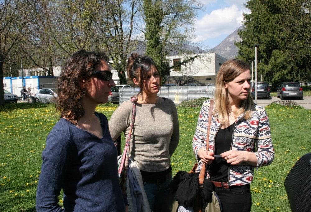 Élise Volluet, Aurélia Vilotta et Clémentine Amiot, de l'Amicale du Nid © Florent Mathieu - Place Gre'net