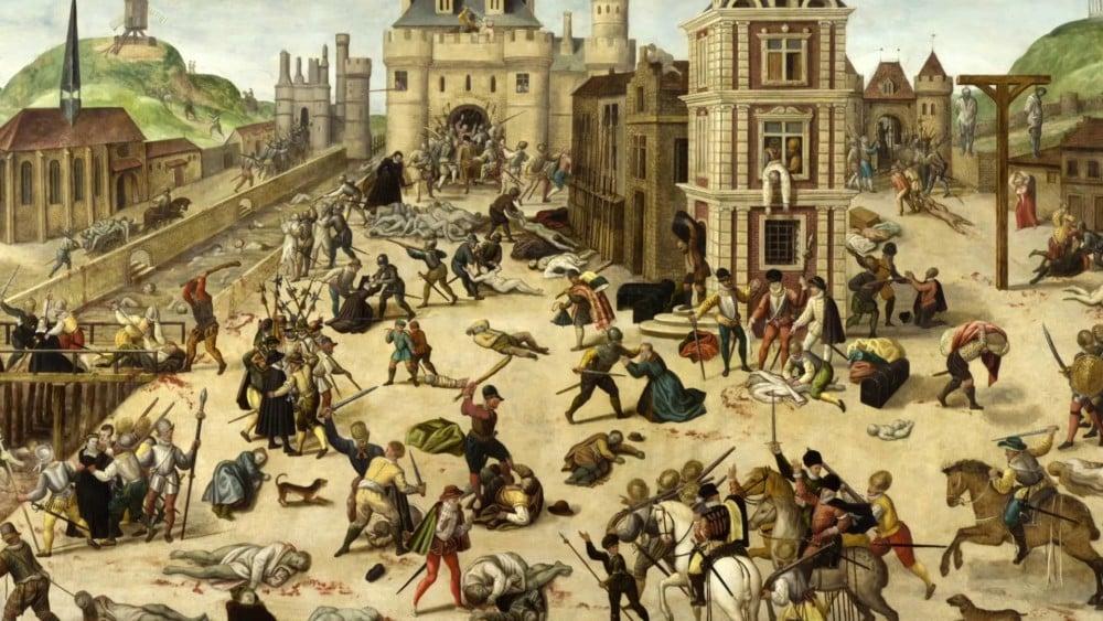 La célèbre représentation de la Saint-Barthélémy par le peintre protestant François Dubois (1529-1584)