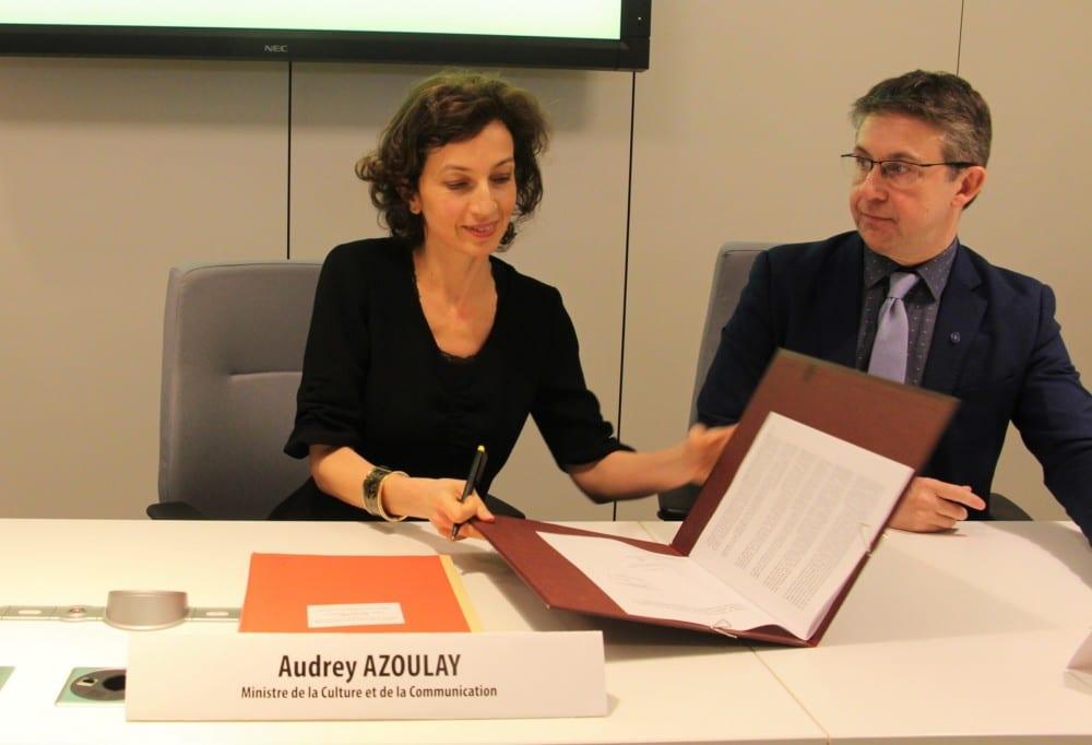 Audret Azoulay et Christophe Ferrari signent la Convention © Anaïs Mariotti - Place Gre'net