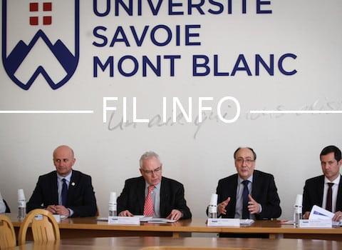 """L'USMB a lancé le 20 mars son pôle touristique d'excellence """"montagne inventive"""", en présence de Denis Varaschin, son président. @ USMB"""