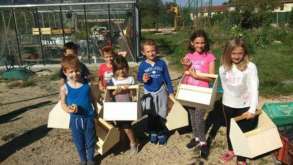 Jardin éco-pédagogique dans la commune de Vif © Cultivons nos toits